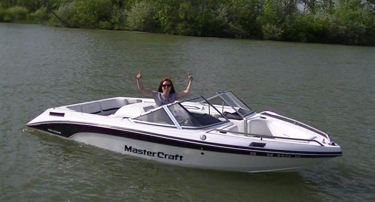 Teresa's first boat - a Mastercraft TriStar